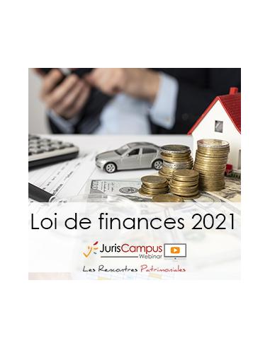Loi de finances 2021 : Webinar d'information