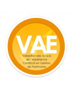 Certificat en Gestion de Patrimoine (Validation des Acquis de l'expérience - VAE)